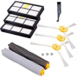 I clean Replacement iRobot Roomba 980 960 880 860 805 870 Parts, Compatible with iRobot Roomba Vacuum Cleaner Replenishment Filter&Brush Kits 800&900 Series (Hepa Filters, Side Brushes, Tangle-Free