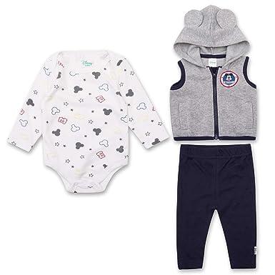 ab9e7655a Newborn Boys Mickey Mouse Set - Disney Mickey Mouse 3 Peice Clothing Set -  Long Sleeve