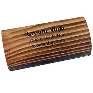 Groom Ninja Horse Shedding Blade 5.25 - Charred Wood