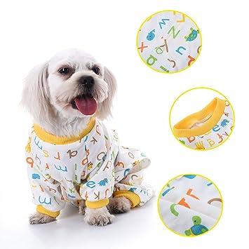 Perro de perro perro patrón de la letra de algodón pijamas ocio y duradera mono de