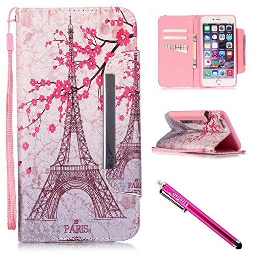 Price comparison product image iPhone 5S Case, iPhone 5 Wallet Case, Firefish Stand Flip Folio Wallet Cover Shock Resistance Protective Shell with Cards Slots Magnetic Closure for Apple iPhone 5/5S/SE-Tower