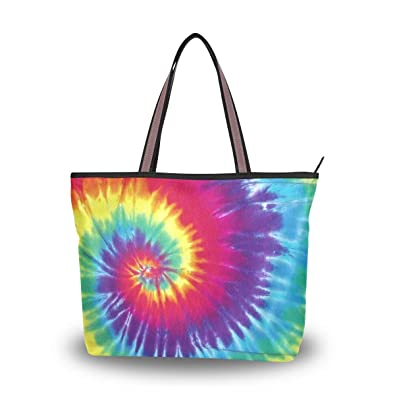 0369b4bfb Image Unavailable. Image not available for. Color: Brighter Colorful Tie Dye  Women's Tote Bag ...