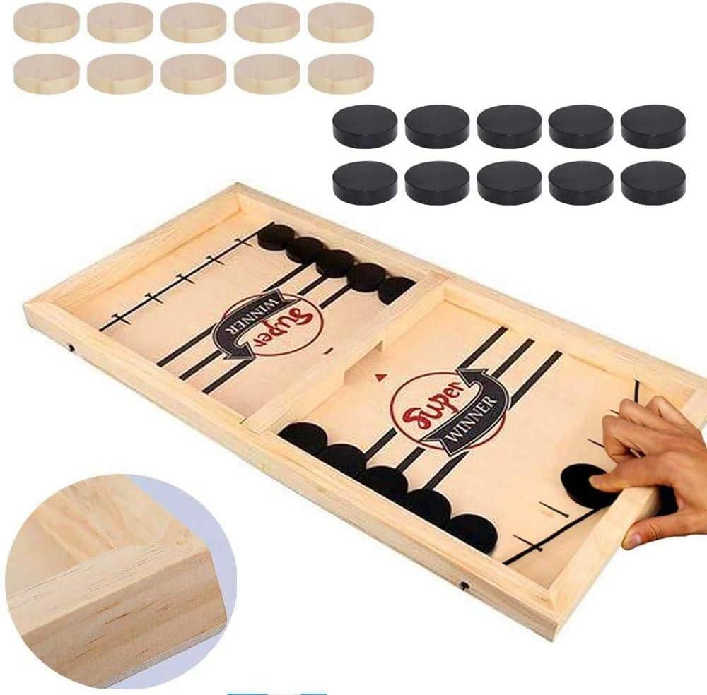 T.face Juego Fast Sling Puck, Table Desktop Battle, Ganador Juegos de Mesa Juguetes para Adultos Juego de Mesa de Tablero de Juguete de ajedrez Interactivo para Padres e Hijos (14.57 * 9.45