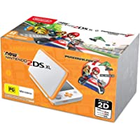 New Nintendo 2DS XL Console White Orange with Mario Kart 7