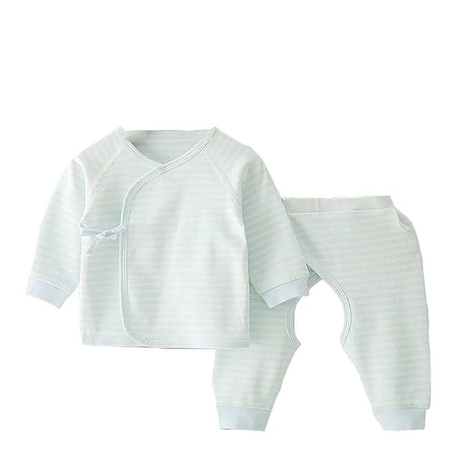 Pijama para bebé recién Nacido, Estilo Kimono y Pantalones: Amazon ...