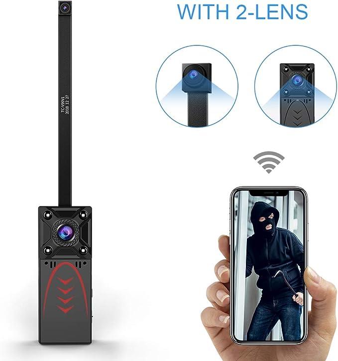 KEAN - Cámara espía de vigilancia WiFi Mini – Cámara IP HD 1080P ...