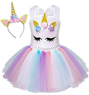 TENDYCOCO Unicornio Vestido de tutú para niñas, niños ...