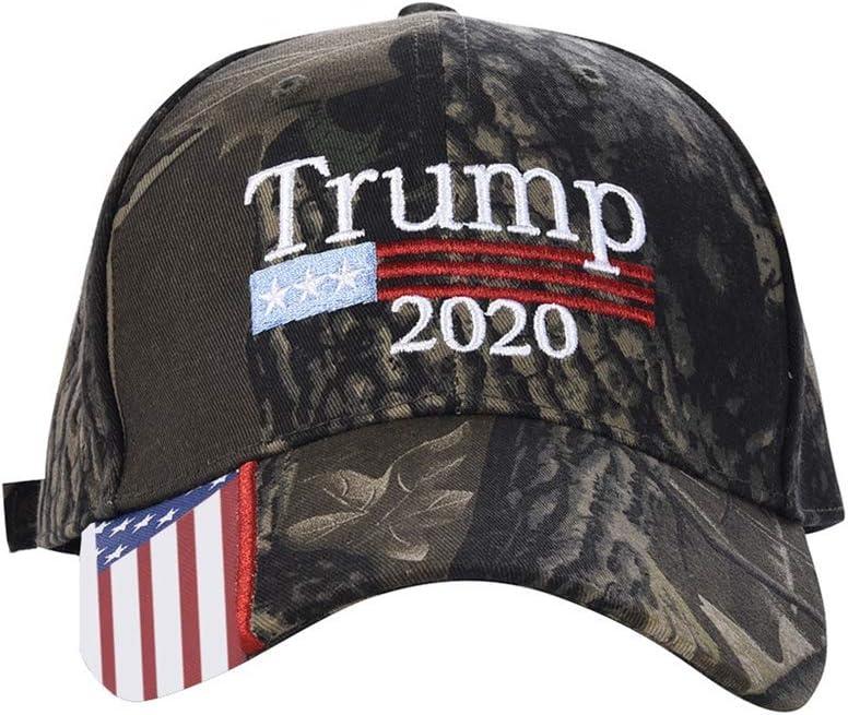 FENICAL Berretto da Baseball American Flag 2020 Trump Pattern Outdoor cap Cappello Regolabile in Cotone Lavato per Donna Uomo
