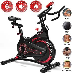 Fnova Bicicleta estática de Spinning Indoor, Volante de inercia de ...