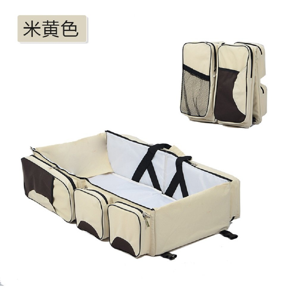 RockFox Multi-functional Folding Baby Bag/Newborn Carrier Infant Bassinet Stroller bag/ Tote Bag/Folding Crib Baby/ Travel Bed sleeping basket/ Diaper milk Bag / Diaper Change Station (Royal Blue) RockFoxOutlet