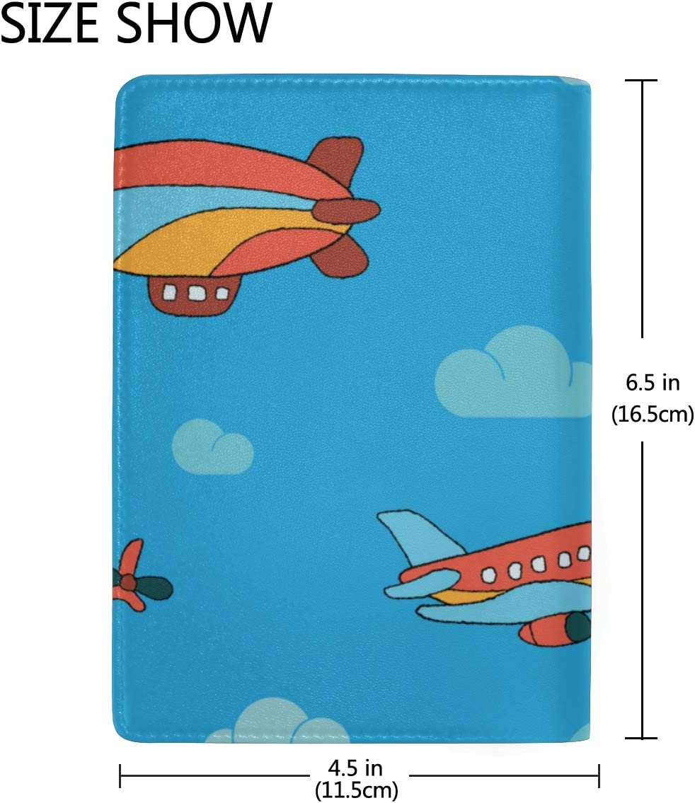 Family Passport Case Different Airplanes In The Sky Stylish Pu Leather Travel Accessories Passport Covers For Women For Women Men