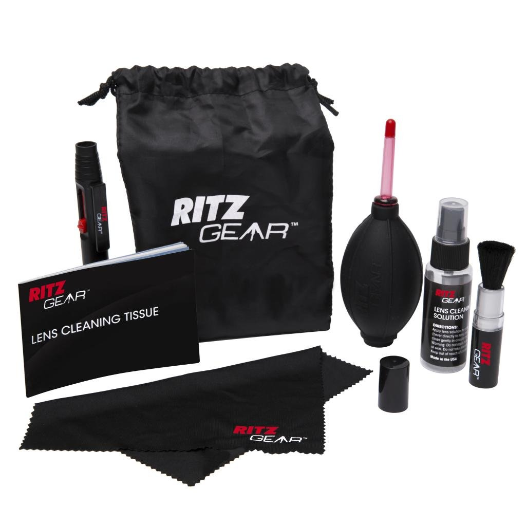 Ritz Gear™ Premium 8-IN-1 Cleaning Kit For Cameras, Camcorders, SLRs, Lenses & Filters RG-CLEKIT