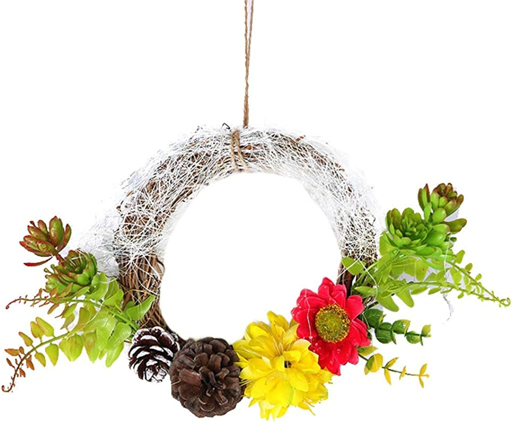 Shimigy Christmas Wreath Christmas Home Decoration Wedding Decoration Wreath Door Pendant
