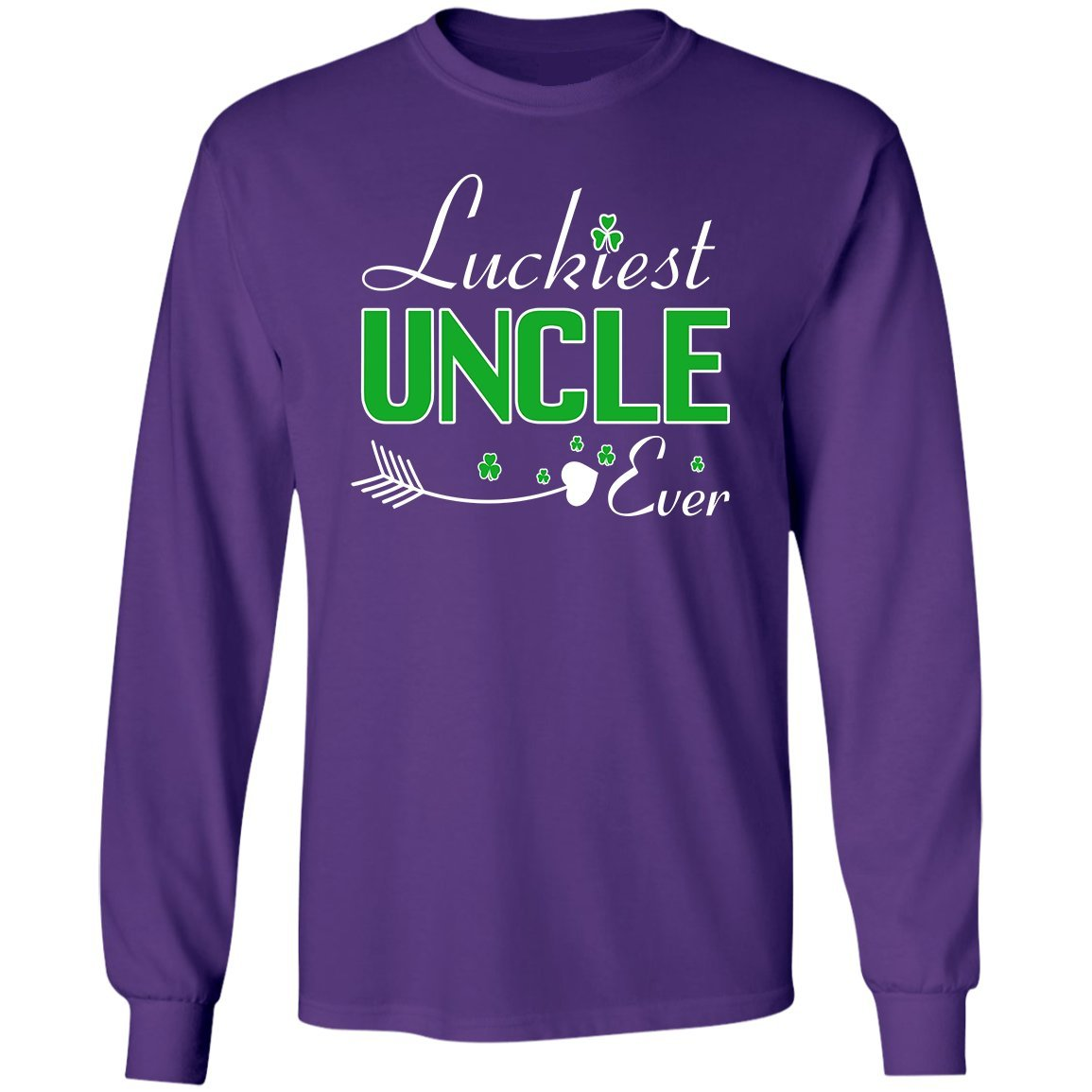 VADOBA Luckiest Uncle Ever ST Patricks Day Shirts Funny Gift Love Uncle Long Sleeve