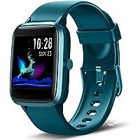 Lintelek Smart Watch, Full-Touch Screen, Sporthorloge, Fitness Tracker, Waterdicht 5ATM, Stophorloge voor Mannen Vrouwen…