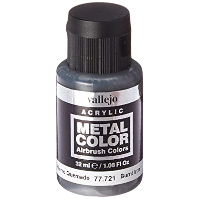 Vallejo Burnt Iron Metal Color 32ml Paint: Toys & Games