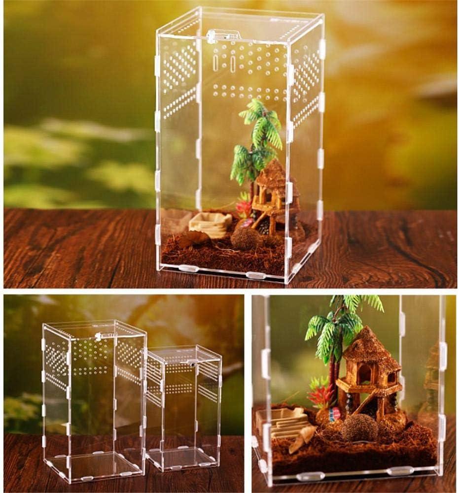 WXGY Insect Feeding Box for Snake Spider Lizard Scorpion Centipede Reptile Feeding Box Portable Transparent Reptile Box Acrylic Reptile Breeding Box