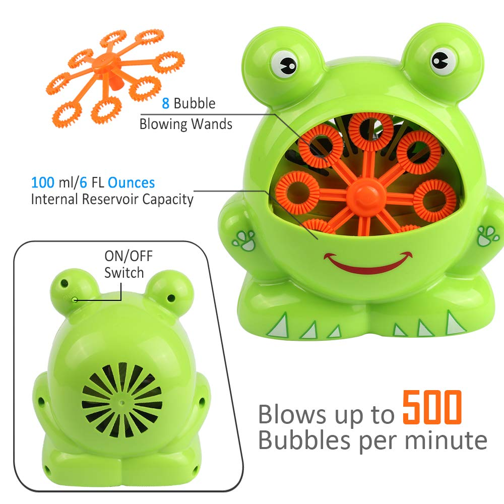 Automatic Frog Bubble Blower Machine Make Bubbles for Kids Birthday Party, Wedding, Indoor and Outdoor Games by Kidcheer (Image #7)