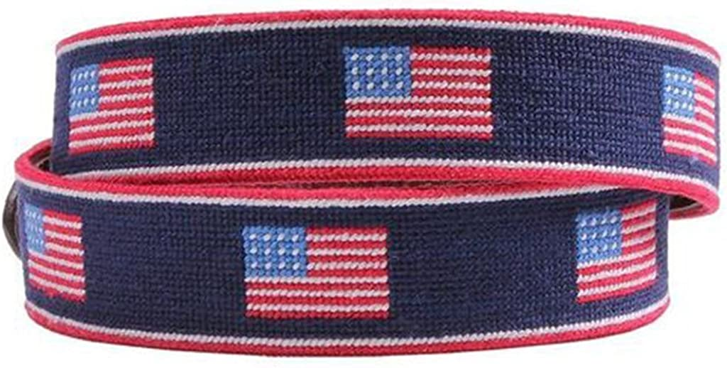 American Flag Stripe Needlepoint Belt by Smathers /& Branson