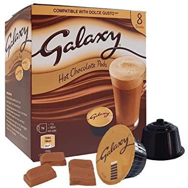 40 Galaxy Hot Chocolate Dolce Gusto Compatible Pods 5 Boxes 8 Pods