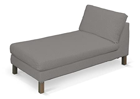 Dekoria Fire ing Ikea Karlstad chaise longue cover - grey ... on headboard cover, sleep cover, bookcase cover, dresser cover, armchair cover, glider cover, chandelier cover, mirror cover, carpet cover, wood cover, hammock cover, canopy cover, leather cover, rocker cover, storage cover, swing cover, bed cover,