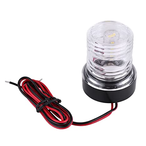 Boat Parts & Accessories Collection Here Abs Plastic Marine Boat Yacht Light All Round 360 Degree White Led Anchor Navigation Lamp Year-End Bargain Sale
