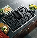 """GE PGP989SNSS Profile 30"""" Stainless Steel Gas Sealed Burner Cooktop - Downdraft"""