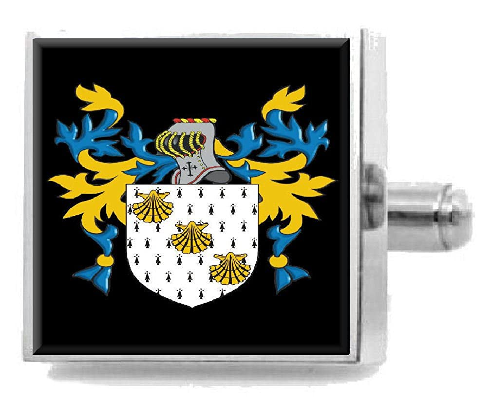 Select Gifts Bodell England Heraldry Crest Sterling Silver Cufflinks Engraved Message Box