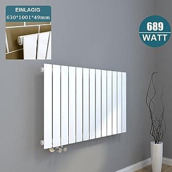 Design Heizkörper 630x1001mm Einlagig Badezimmer/Wohnraum ...