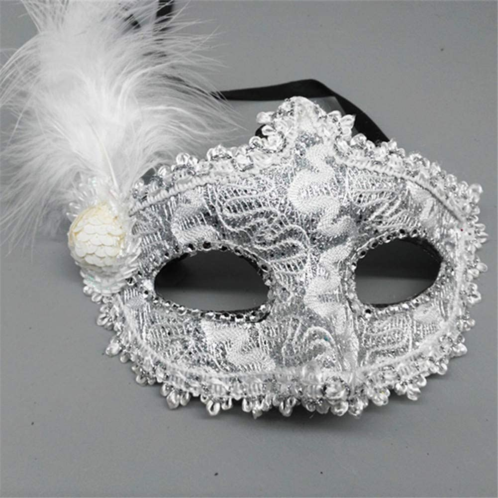 / Maschera per Halloween costume Prom Ball Carnevale party 25cm Yellow Suneast donne Feather masquerade maschera veneziano viso Eye Mask Fancy Dress/  20