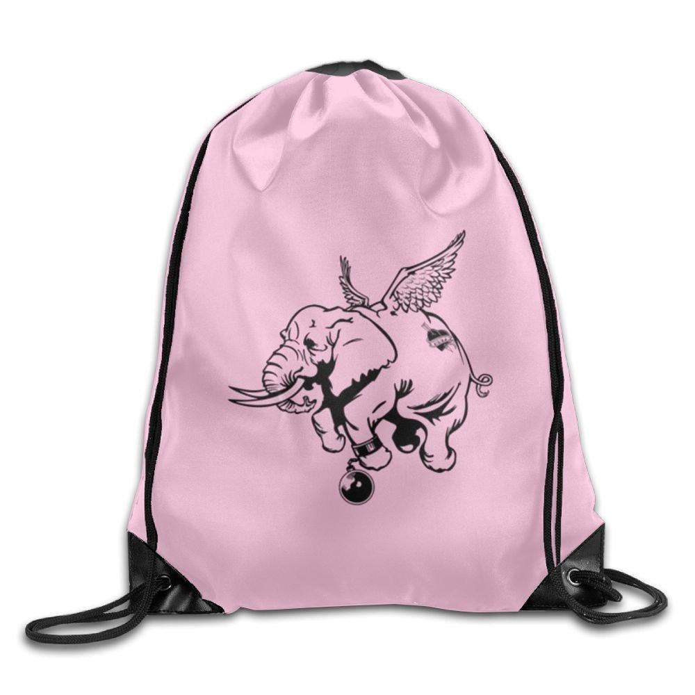 Pool Elephant Drawstring Backpack Rucksack Shoulder Bags Training Gym Sack For Man And Women