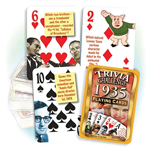 1935 Trivia Playing Cards - Fun 85th Birthday Gift Idea