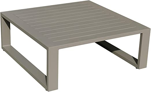 Idilik Table Basse 80 x 80 en alu Taupe Eléra: Amazon.fr: Jardin