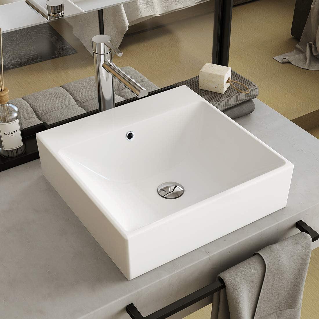 Waschbeckenst/öpsel Chrom Ablaufventil mit /Überlauf Gewinde 1 1//4 Click Clack Waschtisch WOOHSE Universal Ablaufgarnitur Waschbecken Abflussgarnitur Badewanne Pop Up Ventil Messing