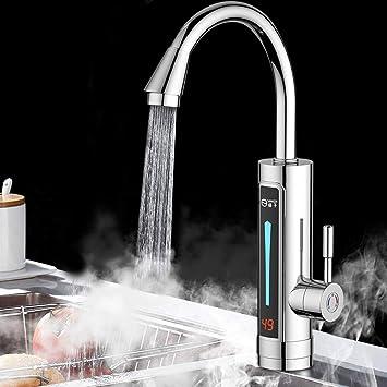 Berkalash Elektrisch Wasserhahn Sofortigerelektrische Durchlauferhitzer 3000W 360-Grad-Drehung Wasserhahn