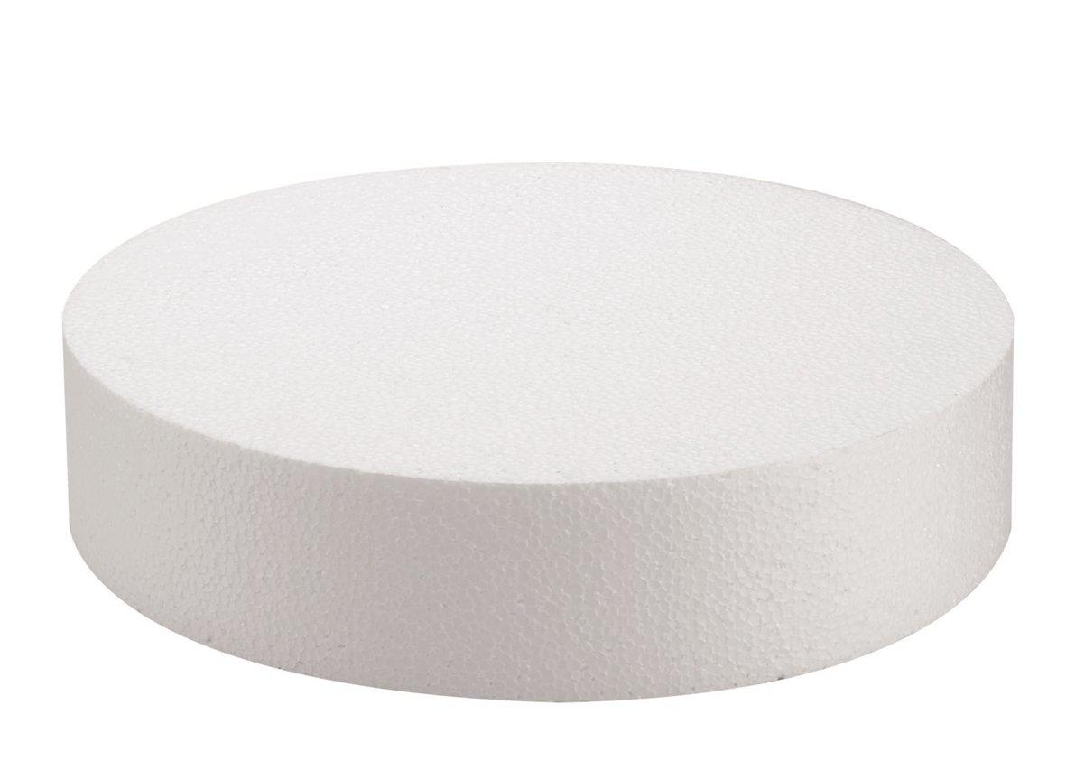 Glorex 38037746Styrofoam Disc, White, 25x 25x 7cm by Glorex GmbH