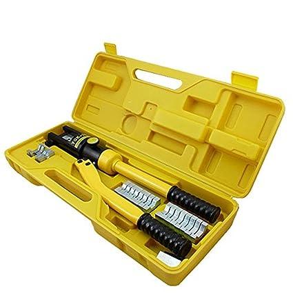 lars360 Herramienta hidráulica de engaste 10 – 300 mm² Herramienta de prensa. Cable Guantes Alicate