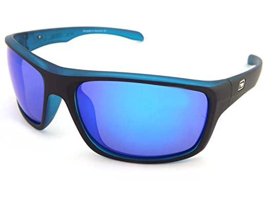 sunglasses polarised  Dirty Dog 53353 AHMPOL Satin Black Xtal Blue Axle Wrap Sunglasses ...