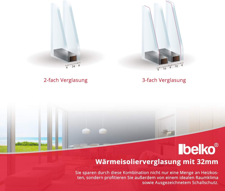Premium BxH: 95x75 cm DIN Links 2 fach Verglasung Alle Gr/ö/ßen Dreh Kipp Wei/ß Fenster Kellerfenster Kunststofffenster Breite: 95 cm