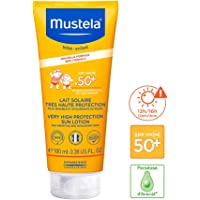 Mustela - Solskyddsmedel med mycket hög skyddsfaktor SPF 50, för ansikte och kropp för spädbarn och barn, 100 ml