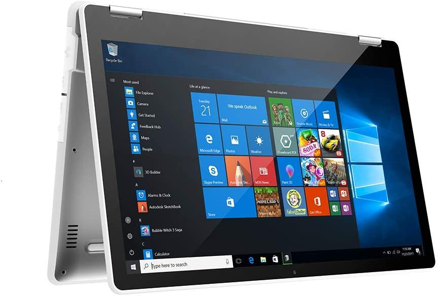 AWOW 2-in-1 FHD Ordenador Portátil Táctil Convertible,Intel Pentium J4205, Quad-Core, Windows 10 Pro, 8GB DDR4, 512G SSD, IPX5 Impermeable, Yoga Notebook 13.3'' VT13 Teclado Incluido (QWERTY)