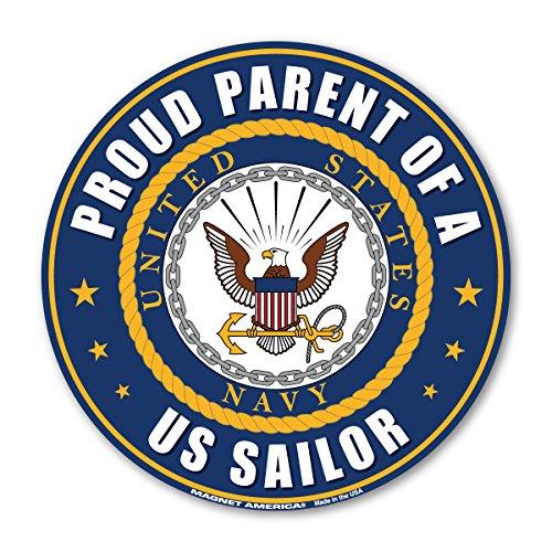 - Proud Parent of a U.S. Sailor Circle Magnet