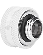 Richer-R 4 Pcs/6 Pcs Water Cooling Compression Fitting for Rigid Acrylic Tube OD 14mm(4X Blanc)