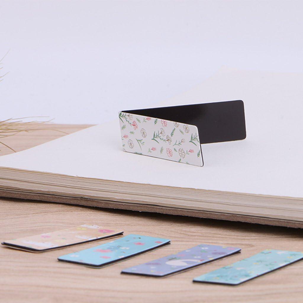 6Pcs Bookmark,Mignon Signet Marque Pages Magnetique Aimant/é Folewr-8
