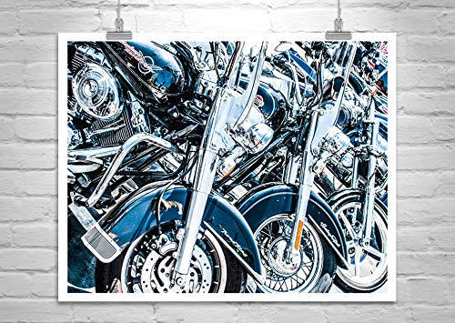 Motorcycle Wall Art, Harley Davidson Photo, Harley Picture, Biker Art ()