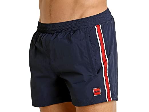 0c612158a7d2c Image Unavailable. Image not available for. Color: Hugo Boss Salmon Swim  Shorts Navy