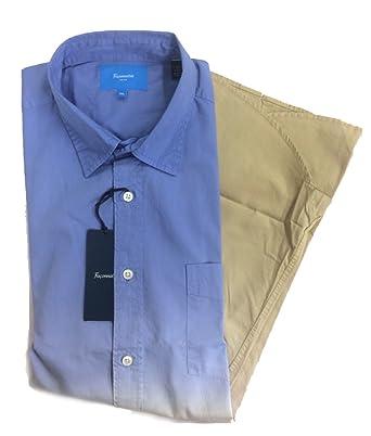 6268befa Amazon.com: Faconnable Mens Button Down Shirt Sport (2XLarge, Blx2 ...