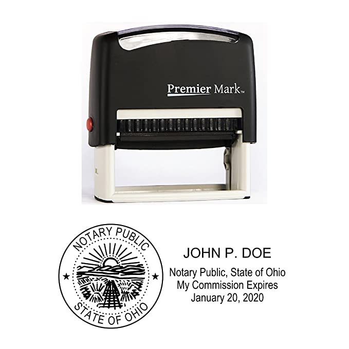 61XJ0Dq3adL._SX679_ amazon com ohio notary self inking rubber stamp meets state