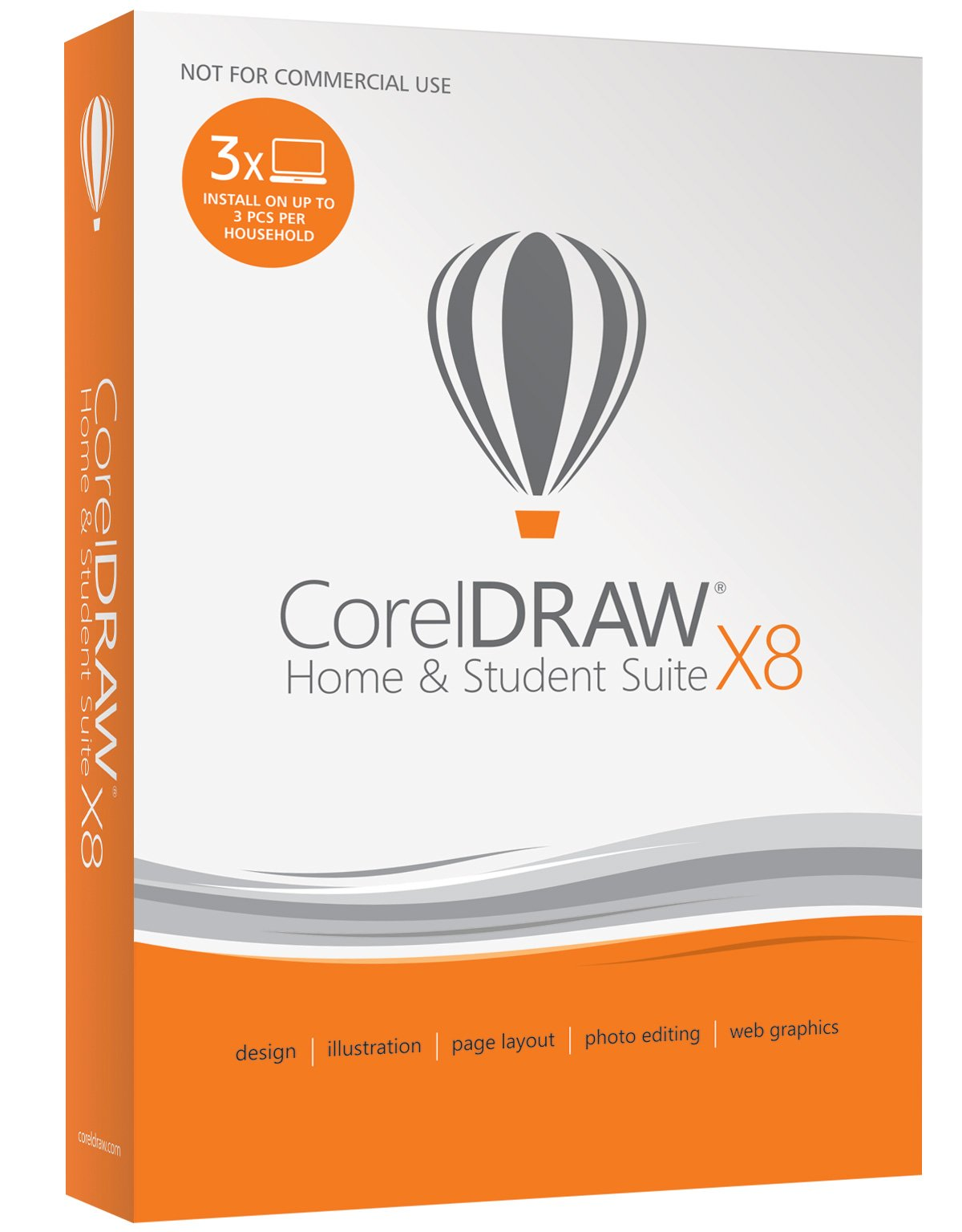 CorelDRAW Home & Student Suite X8 for PC (Old Version) by Corel