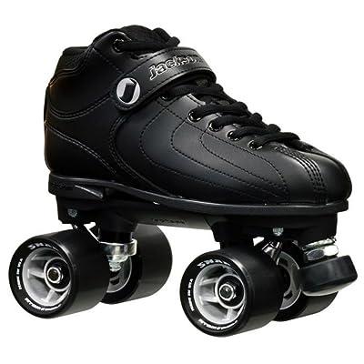 New! Jackson Vibe Black on Black Quad Roller Speed Skates (Mens 6) : Garden & Outdoor
